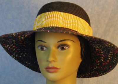 Hat Band in Yellow White Line Wave-front