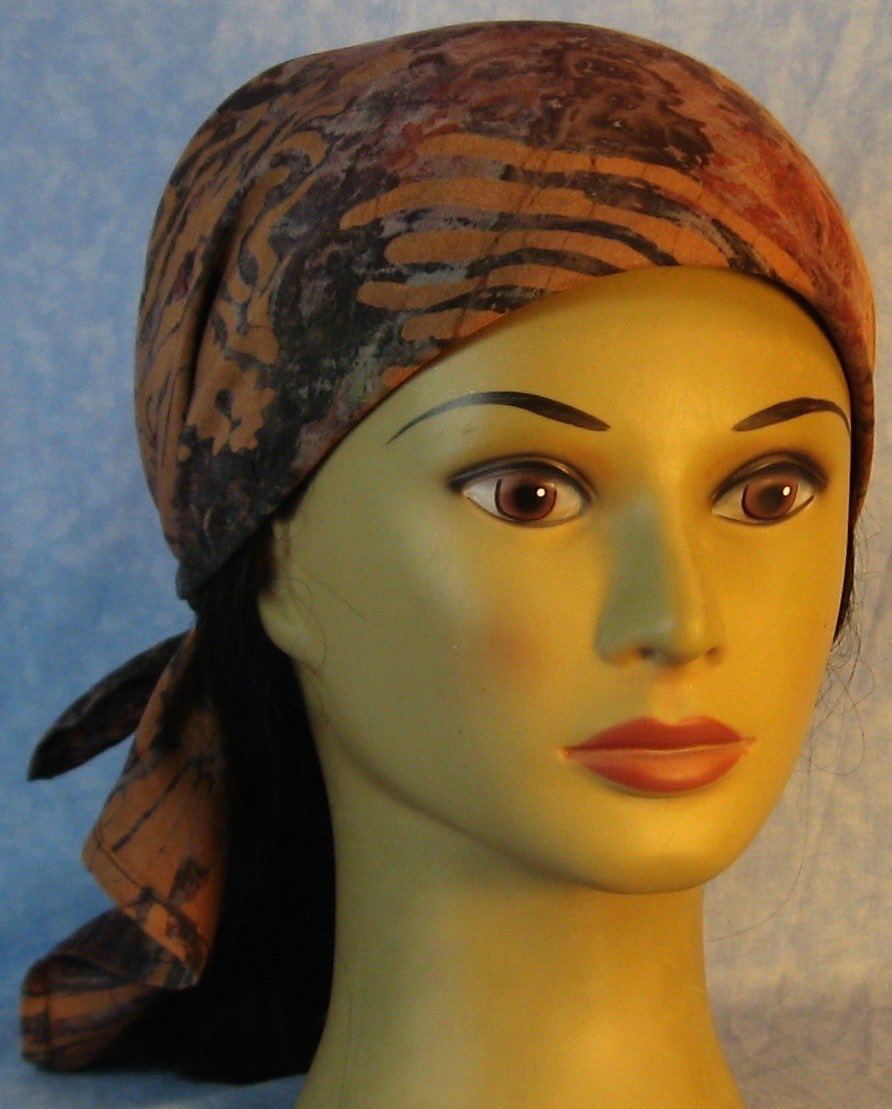 HeadWrap-Brown Gray with Brown Stamp-wrap-front