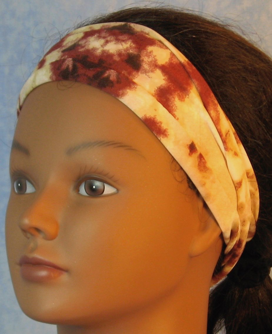 Headband-Brown Tan Cream Drop Dye-folded left