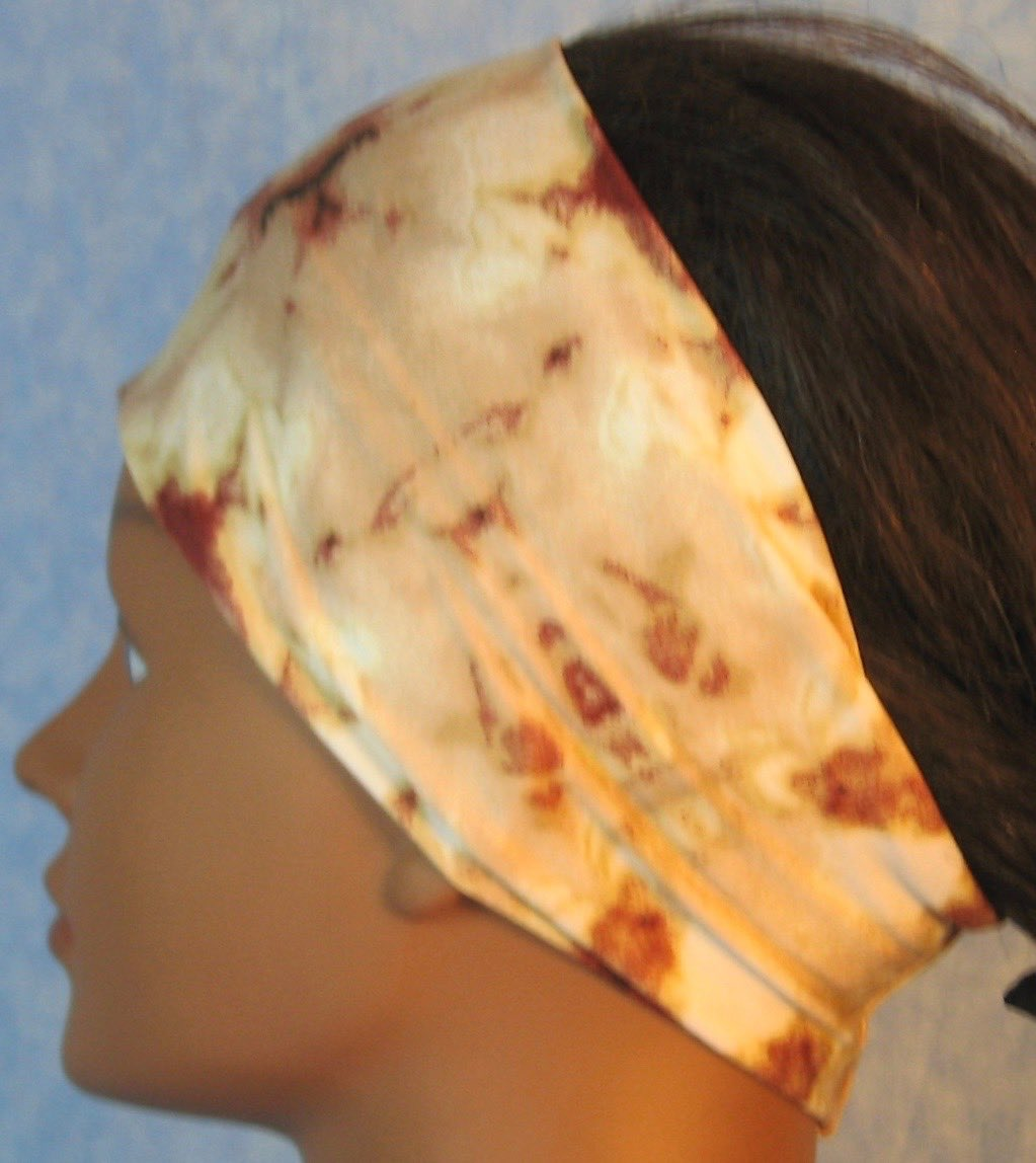Headband-Brown Tan Cream Drop Dye-left