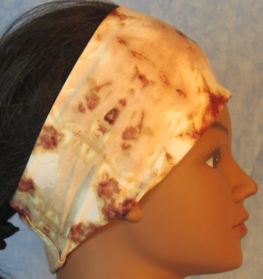 Headband-Brown Tan Cream Drop Dye-right