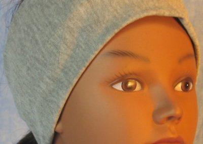 Headband in Light Gray Knit-front