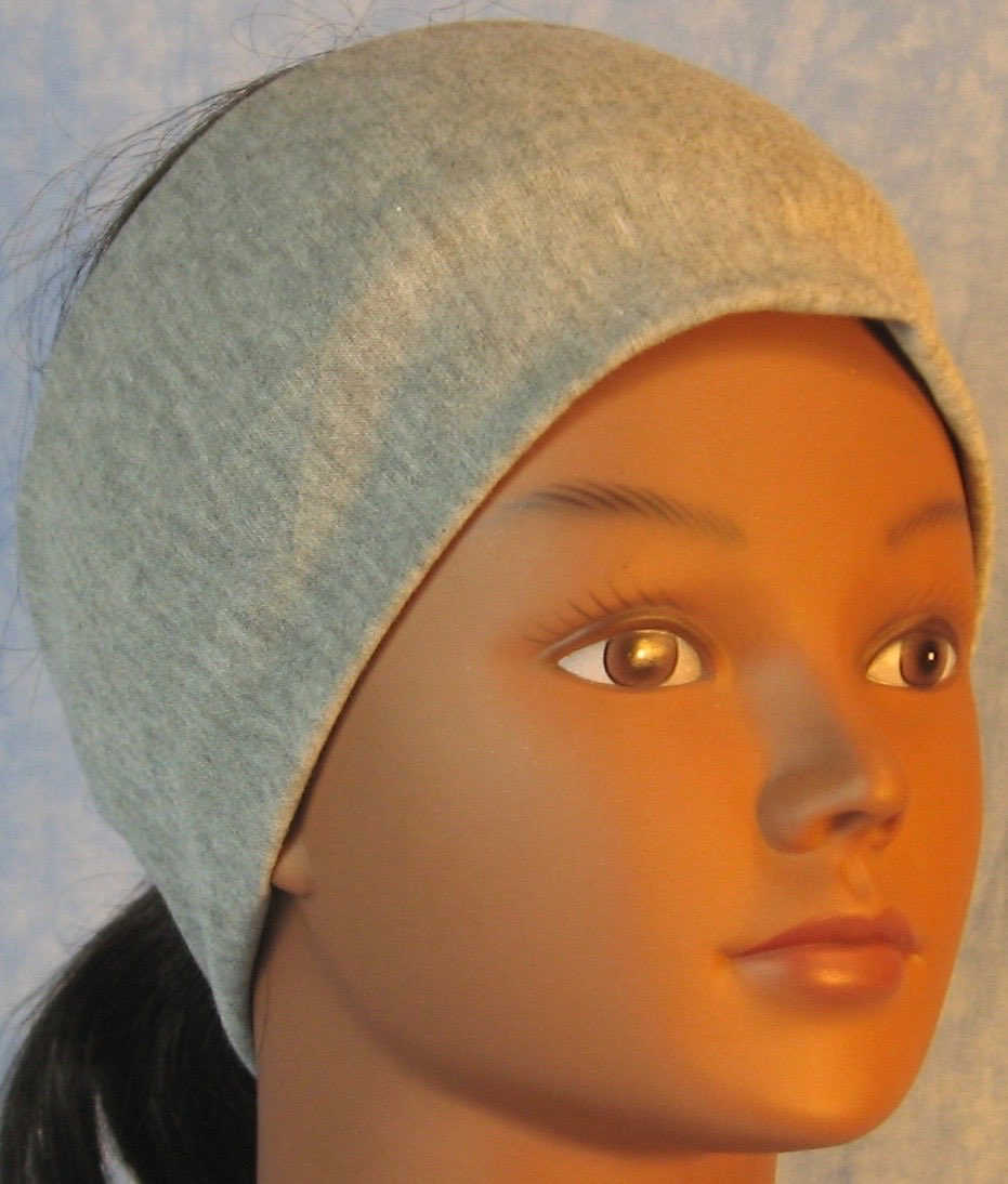 Headband-Light Gray Knit-front