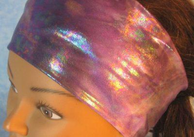 Headband in Purple Purple Oily-left top