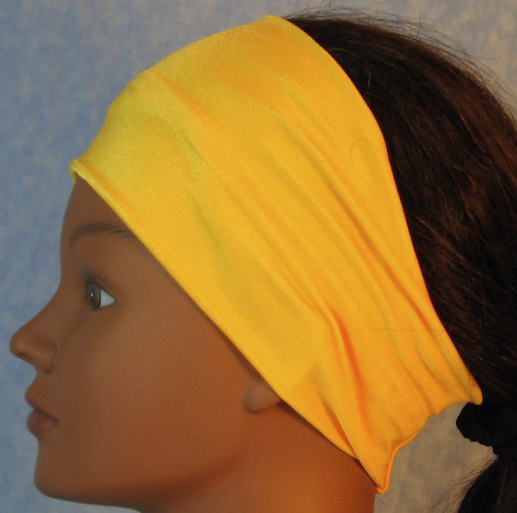 Headband-Yellow Swim Knit-Adult S