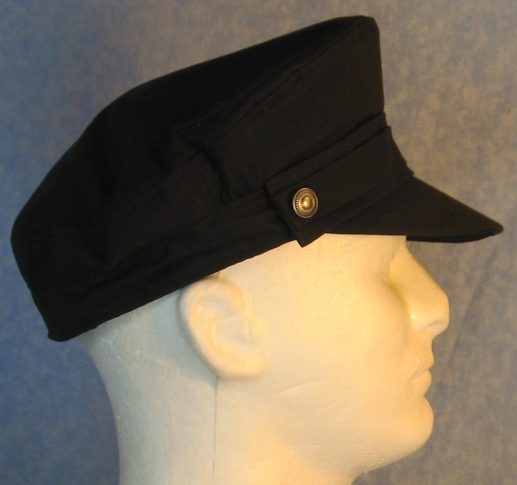 Captain Cap in Black - Adult S-L
