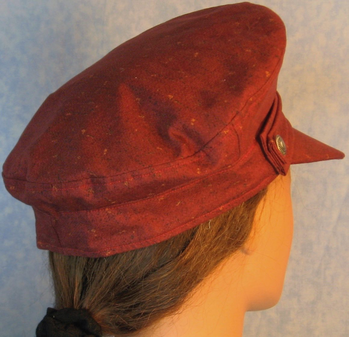 Captain-Burgundy with Black Rust Marks-Back Right