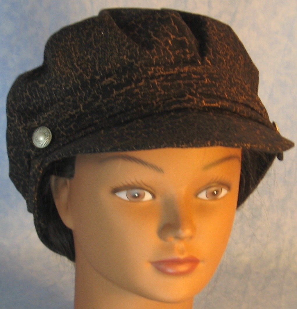 Fisherman Fiddler-Black with Brown Marble-front top