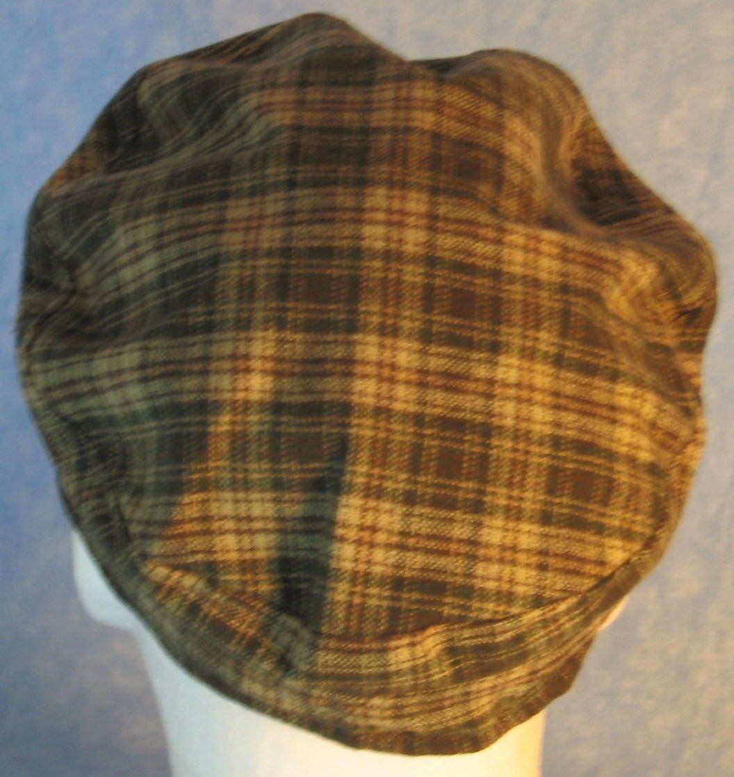 Fisherman Fiddler-Cream Green Brown Plaid Wool-back