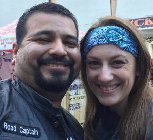 Green Headband on Her in Couple Picture Lone Star Rally 2017