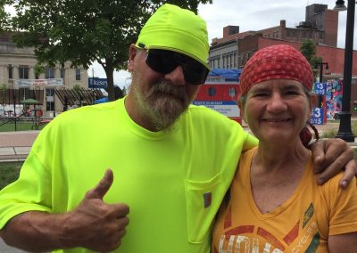 Yellow Do Rag Guy with Becky Decatur 2017