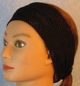 Headband-Black Fishnet with Stars-left