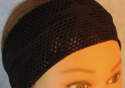 Headband-Black Fishnet with Stars-top