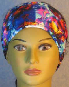 Headband-Blue Pink Yellow Shattered Glass-front
