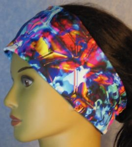 Headband-Blue Pink Yellow Shattered Glass-left