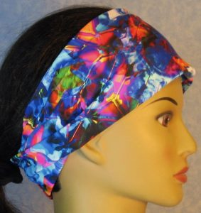 Headband-Blue Pink Yellow Shattered Glass-right