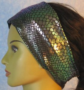 Headband-Lavender Turquoise Mermaid Tail-left