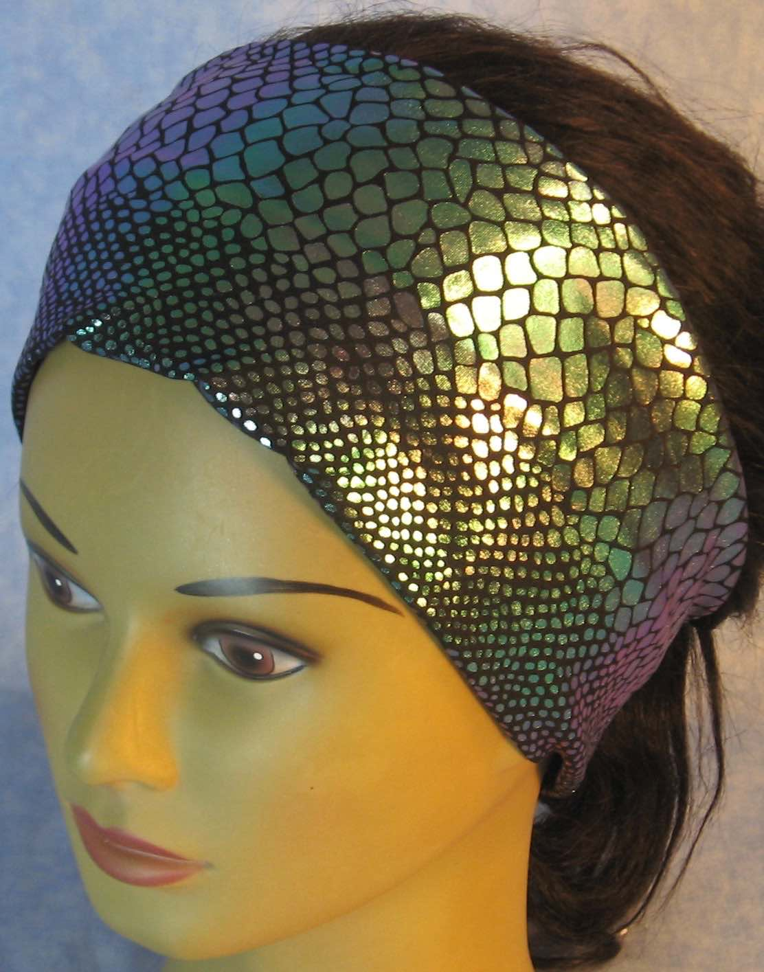 Headband-Lavender Turquoise Mermaid Tail Performance Knit-Youth L-XL