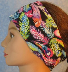 Headband-Pastel Feathers-left