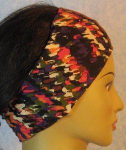 Headband-Purple Pink Brown Big Marker Marks-right
