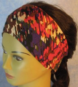 Headband-Purple Pink Brown Big Marker Marks-top