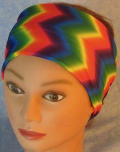 Headband-Rainbow Chevron-top
