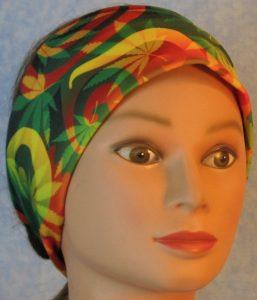 Headband-Red Green Yellow Marijuana-front