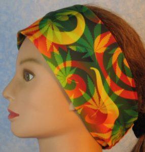 Headband-Red Green Yellow Marijuana-left