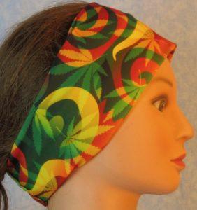 Headband-Red Green Yellow Marijuana-right