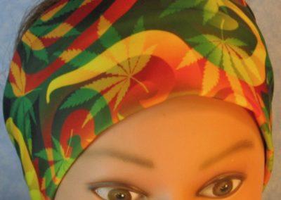 Headband-Red Green Yellow Marijuana-top
