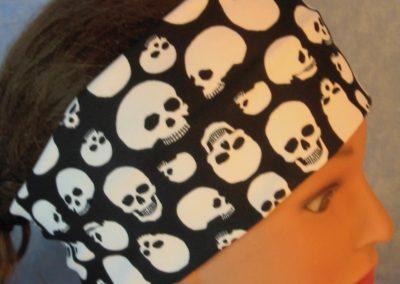 Headband-Skulls On Black-top