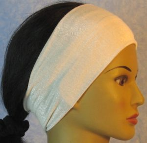Headband-White With Silver-right