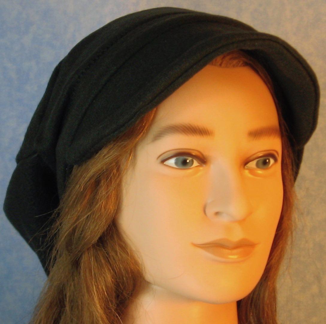 Newsboy Hat in Black-Adult 3XL