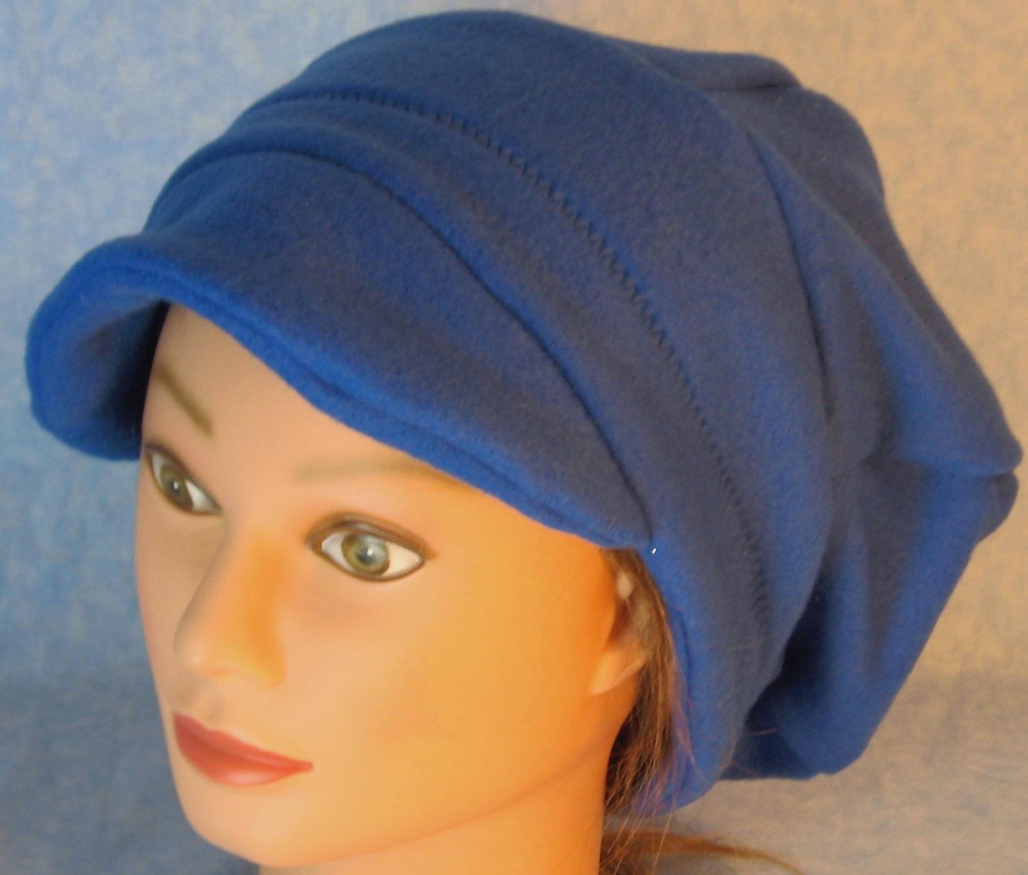 Newsboy Hat in Blue-Adult L