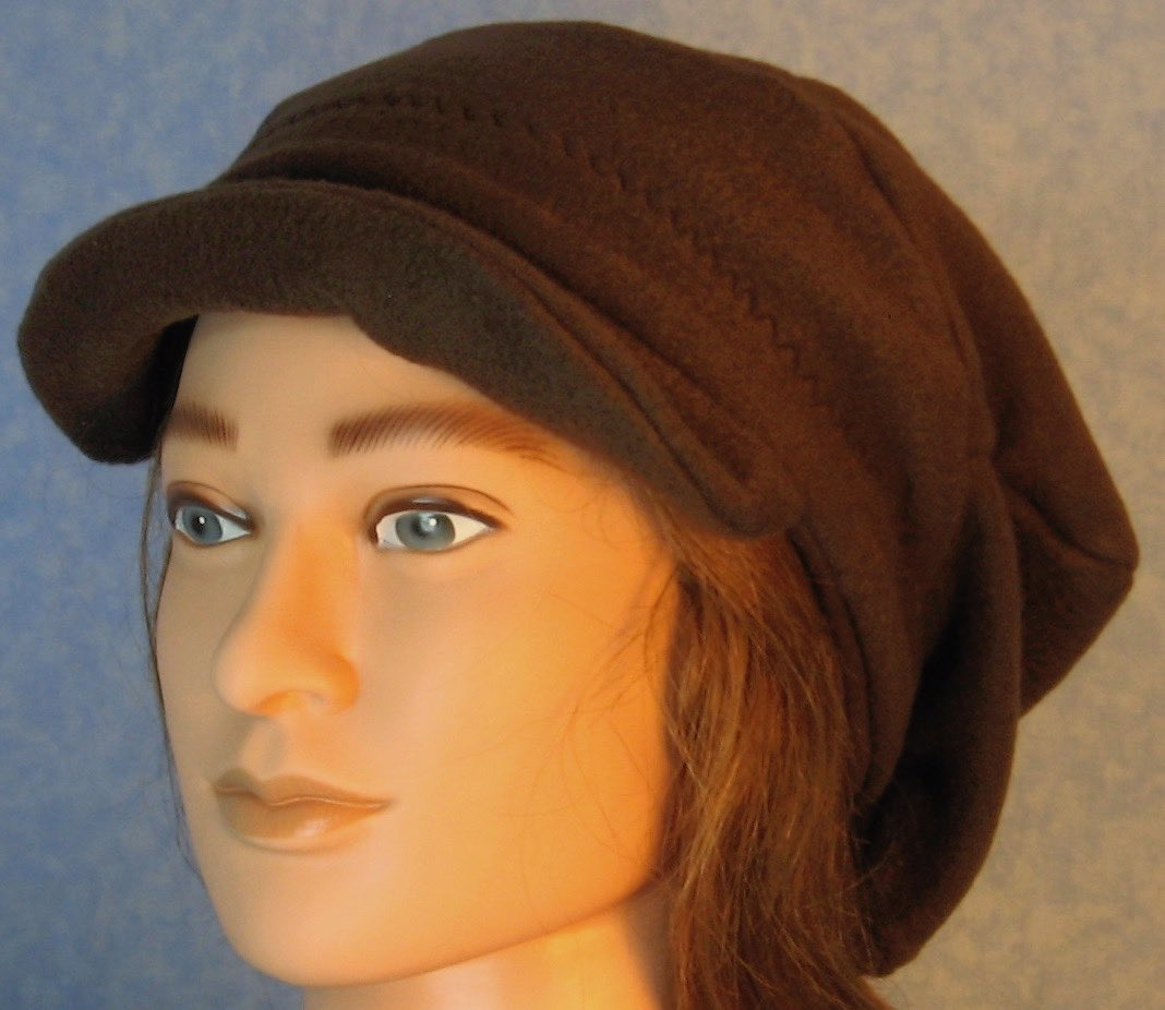 Newsboy Hat in Brown-Adult 2XL