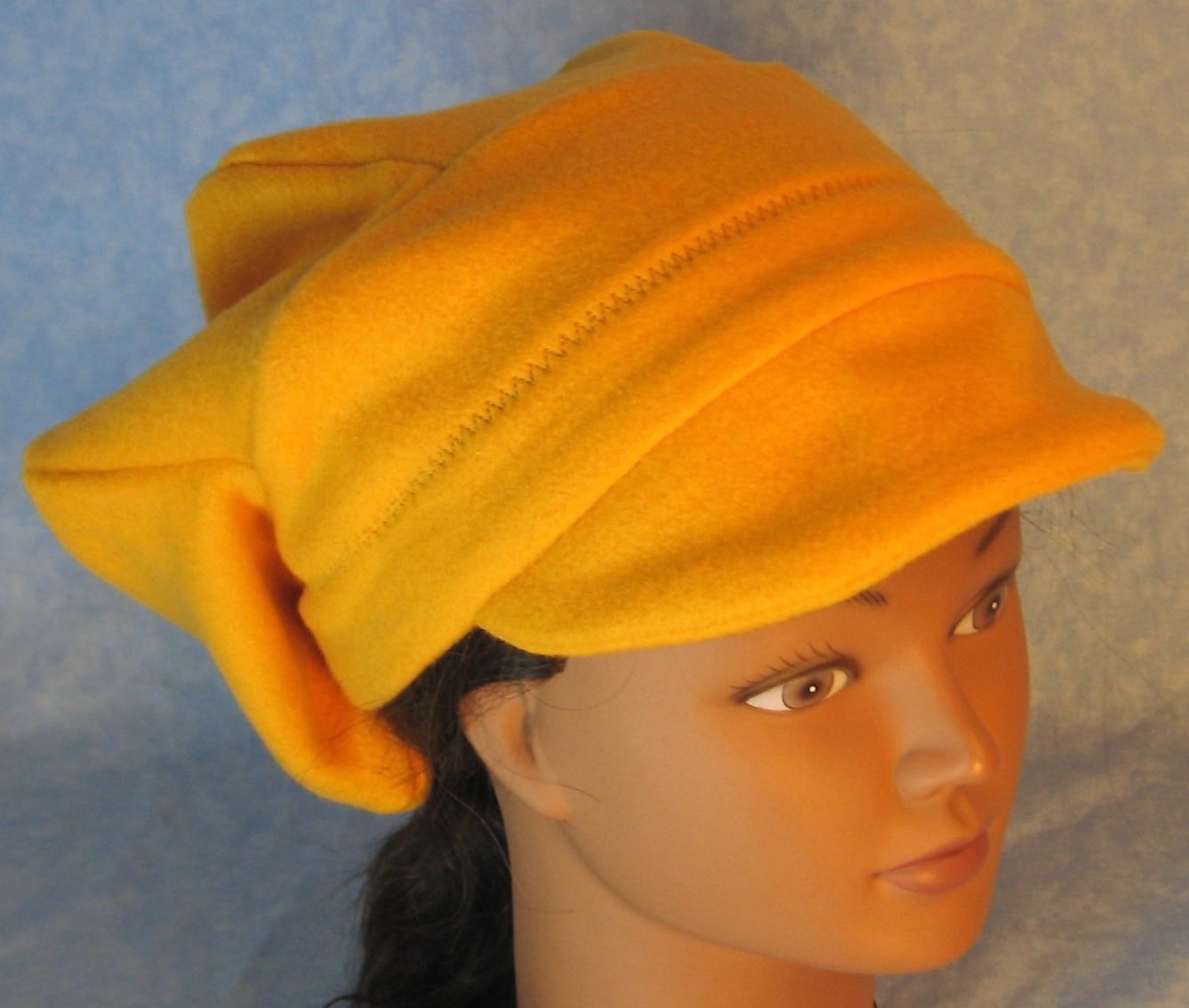 Newsboy Hat in Mustard Yellow-Adult M