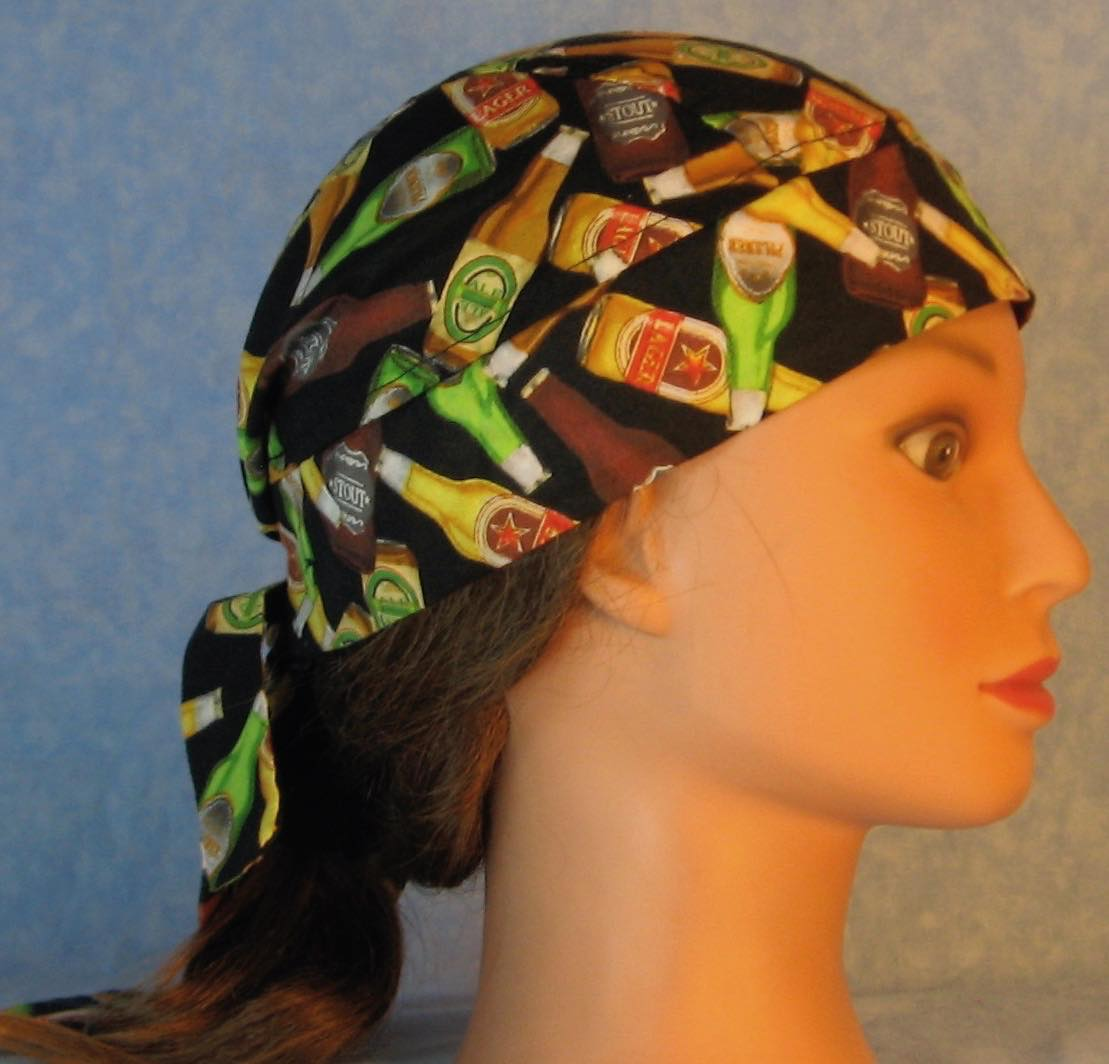 Do Rag in Beer Bottles on Black-Adult M-XL