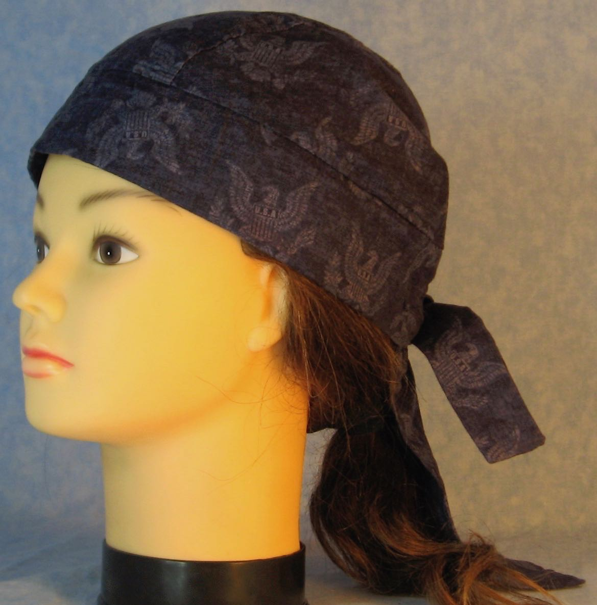 Do Rag in Navy Eagle Figure on Navy-Adult M-XL