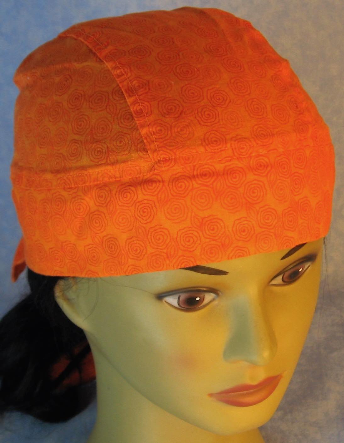 Do Rag in Orange Line Circles on Orange-Adult M-XL