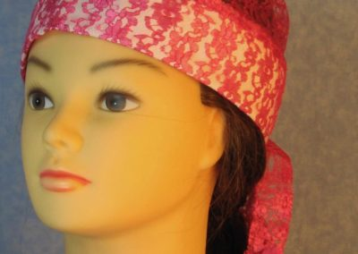 Do Rag-Pink Floral Lace-front