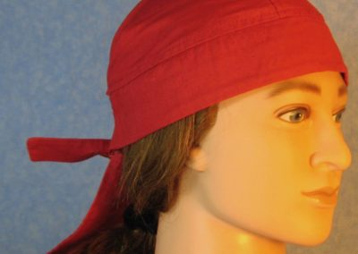 Do Rag-Red with God Bless America Tail-front right