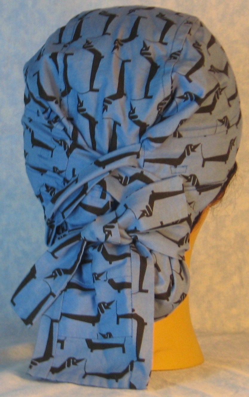 41e619d4b79 Hair Bag Do Rag in Dachshud Dog on Blue - Youth L-XL-Adult S