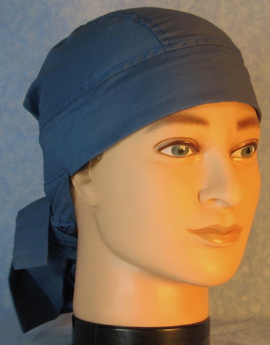 Hair Bag Do Rag in French Blue - Adult M-XL