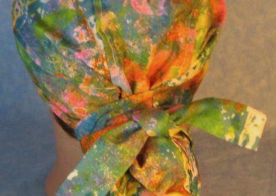 Hair Bag-Pastel Sponge Pink Blue Orange Yellow Green-back