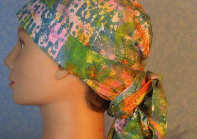 Hair Bag-Pastel Sponge Pink Blue Orange Yellow Green-left