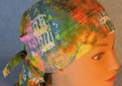 Hair Bag-Pastel Sponge Pink Blue Orange Yellow Green-top right