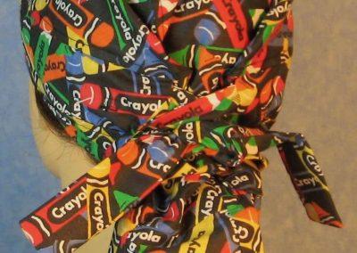 Hair Bag-Rainbow Crayola Crayons on Black-back