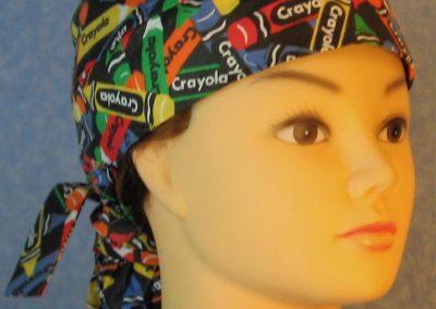 Hair Bag-Rainbow Crayola Crayons on Black-front