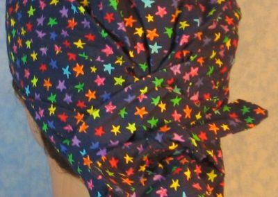 Hair Bag-Rainbow Stars on Navy-back