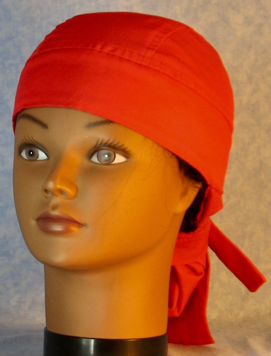 Hair Bag Do Rag in Red - Youth L-XL-Adult S